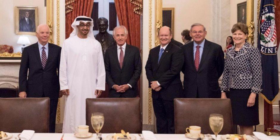 محمد بن زايد يلتقي عددا من قادة وأعضاء مجلس النواب والشيوخ الأمريكي