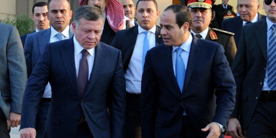 عاهل الأردن يعزي الرئيس السيسي في ضحايا حادث سوهاج
