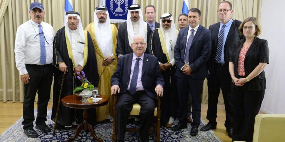 شيوخ عشائر أردنية في لقاء مكتب الرئيس الإسرائيلي