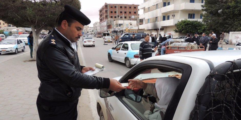 مرور الإسكندرية تحرر 2003 مخالفة متنوعة في 24 ساعة