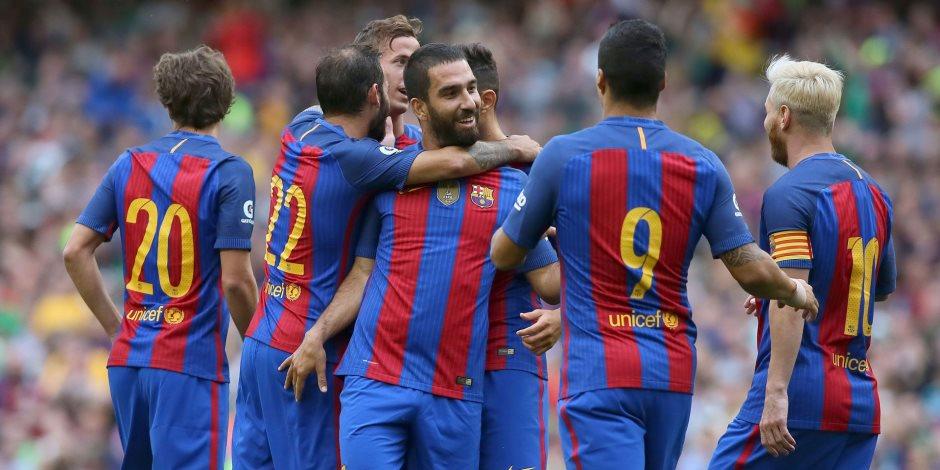 الشوط الأول.. برشلونة يتقدم بثلاثية على ألافيس في نهائي كأس إسبانيا (فيديو)