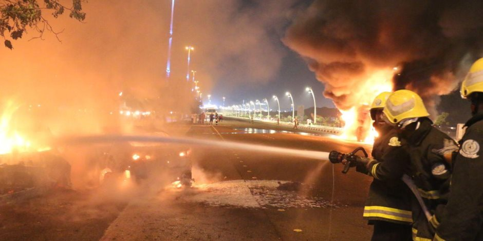 انتداب المعمل الجنائي في حريق داخل منتجع في أكتوبر