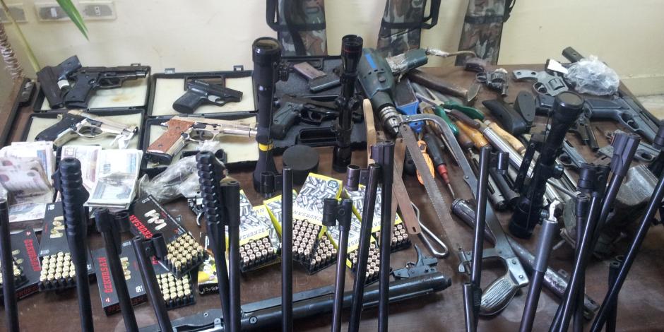 الداخلية تداهم بحيرة المنزلة وتضبط 247 قطعة سلاح و5 أطنان حشيش