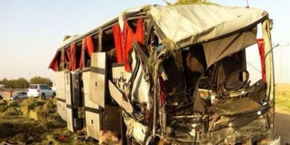 إصابة 13 طالبا وطالبة في انقلاب أتوبيس مدرسة خاصة تابعة لإدارة الخليفة التعليمية