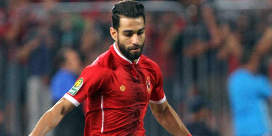 عمرو السولية يسجل الهدف الأول للأهلى فى الدقيقة الخامسة