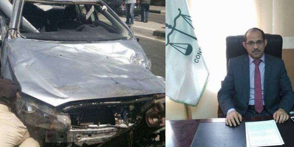 مصرع قاضي من منفلوط بأسيوط في حادث سير