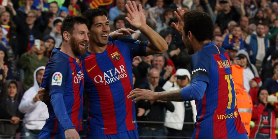 سواريز يتقدم لبرشلونة بعد 13 دقيقة أمام إشبيليه في نهائي كأس إسبانيا