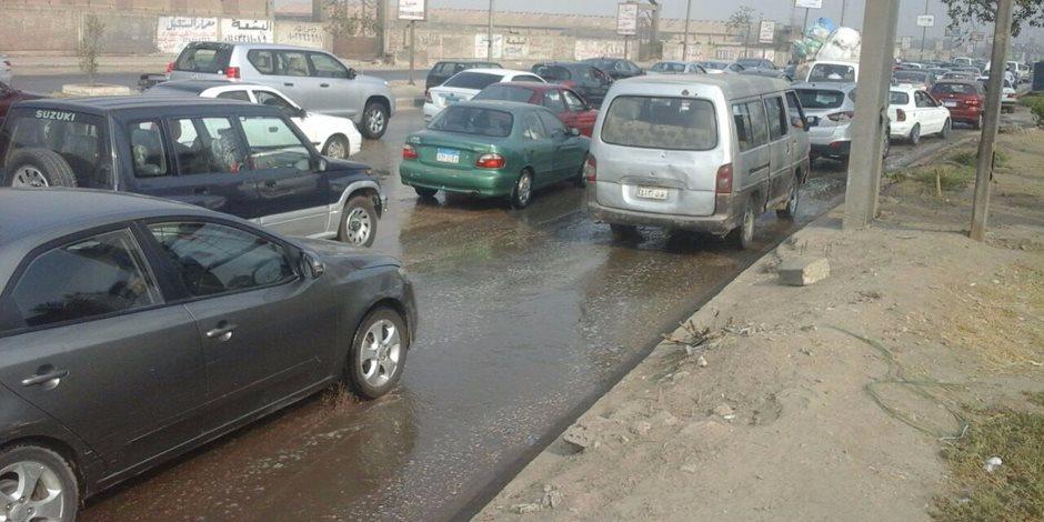 كثافات مرورية بمحيط جامعة القاهرة و كوبرى 15 مايو بسبب زيادة الأحمال