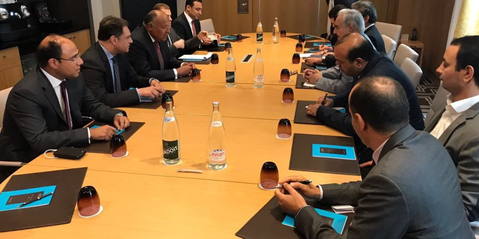 وزير الخارجية يلتقي مع المشير خليفة حفتر في باريس لمباركة وقف إطلاق النار