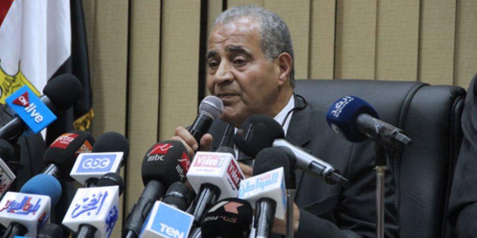 وزير التموين: الأوضاع مستقرة ومخزون القمح والأرز يكفى حتى نهاية 2018