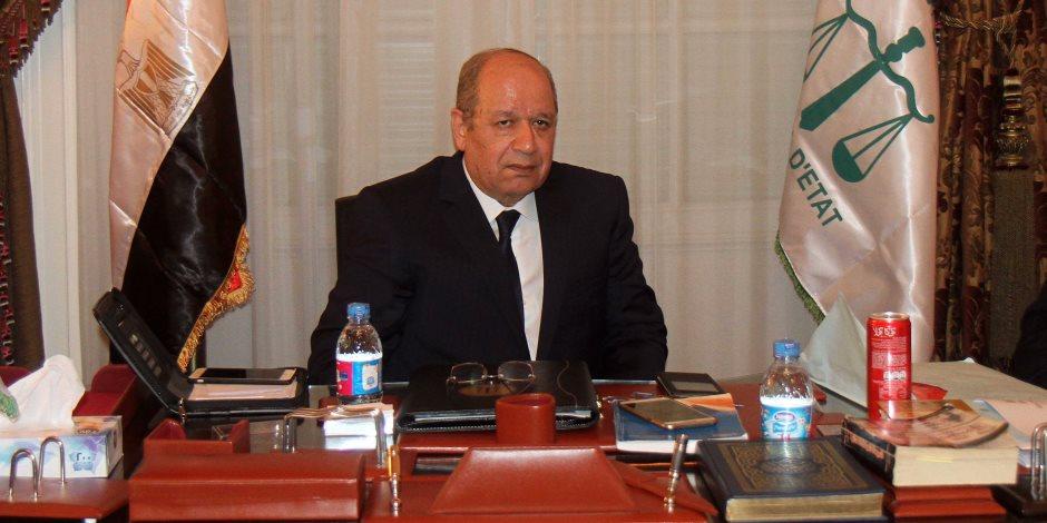 """""""ابو العزم"""" يلتقى رئيس مجلس الدولة الفرنسى لبحث التعاون القضائى"""