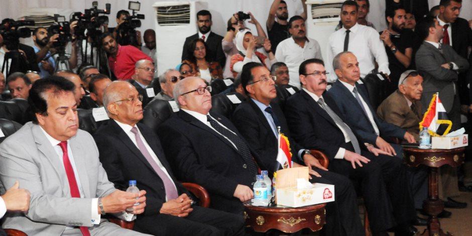 وزير الإسكان يشارك في الاحتفال بافتتاح مستشفى جامعة عين شمس التخصصي بالعبور
