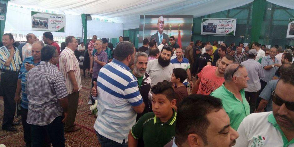 إقبال جماهيري كبير للتصويت على لائحة النادي المصري البورسعيدي (صور)