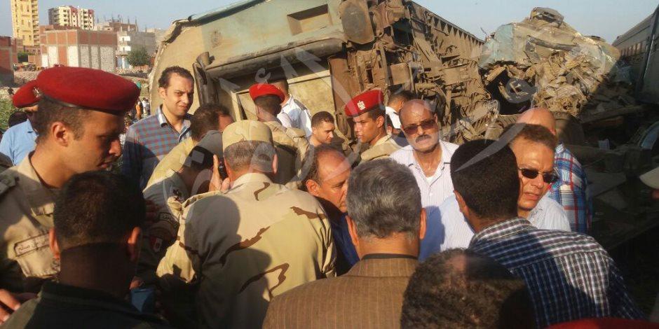 القوات المسلحة تشارك في رفع آثار حادث قطاري الإسكندرية