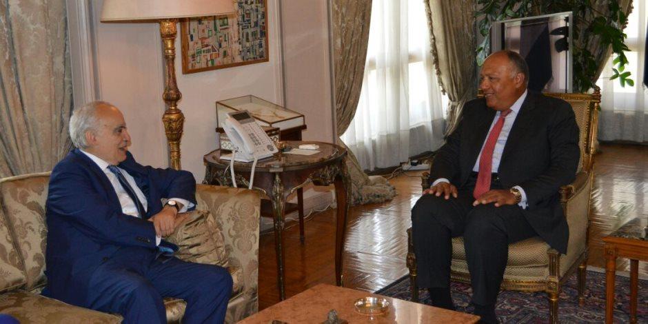 سامح شكري يطلع مبعوث الأمم المتحدة على الجهود المصرية لحل الأزمة الليبية