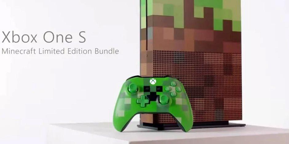 شركة مايكروسوفت تطلق نسخة جديدة من جهاز Xbox One S لمحبى لعبة Minecraft