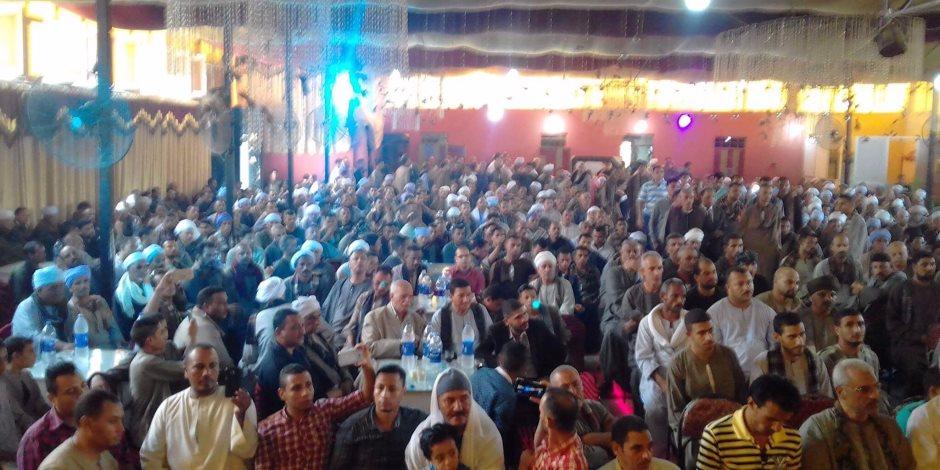إنهاء خصومة ثأرية بدار السلام بحضور محافظ سوهاج ونائب مدير الأمن  (صور )