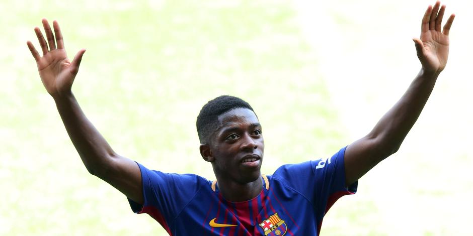 مدرب برشلونة يكشف سبب إصابة ديمبيلي