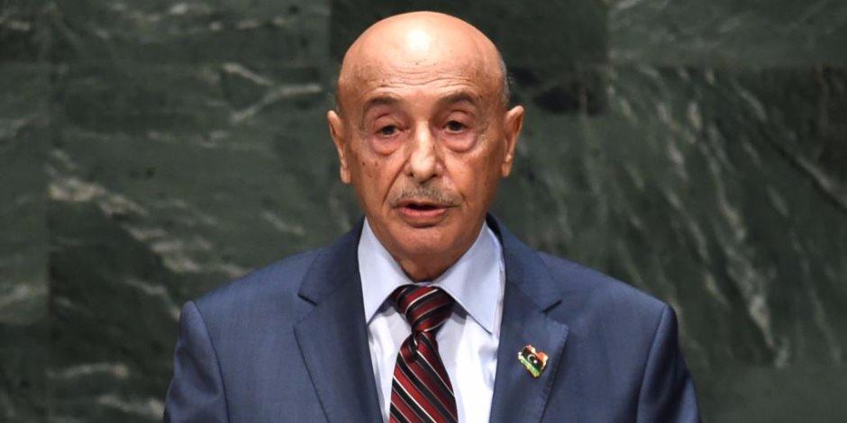 رئيس البرلمان الليبى يشكر الرئيس السيسى: فائق تقديرنا لمواقفكم