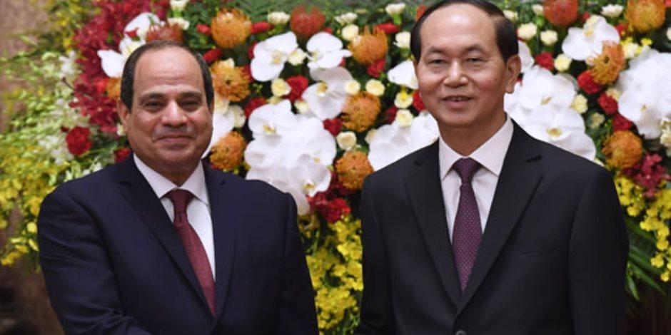 الرئيس السيسي من فيتنام: العلاقات بين البلدين متميزة وعميقة
