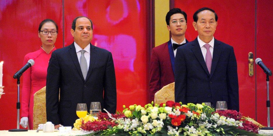 السيسي: حريصون على تطوير التعاون مع فيتنام بما يحقق المنفعة المشتركة