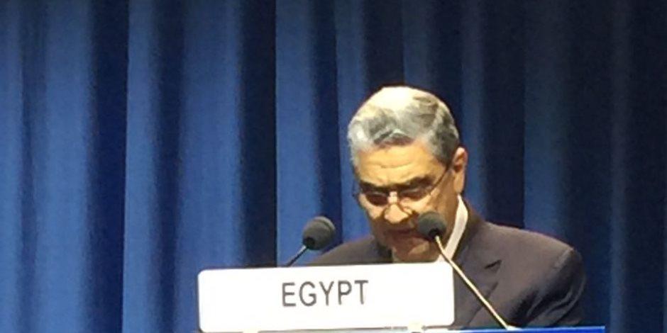 وزير الكهرباء في كلمته بفيينا: نواصل جهودنا لتنفيذ برنامجنا النووي السلمي لتلبية الاحتياجات التنموية المتزايدة