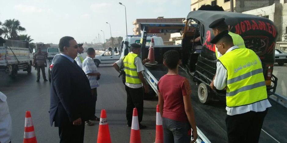 القبض على 9 سائقين من متعاطي المواد المخدرة في حملة مرورية بالإسماعيلية