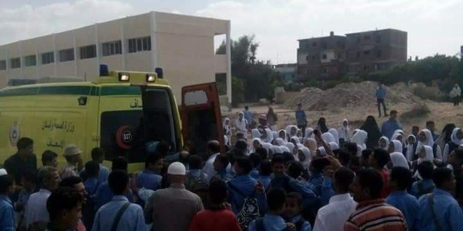 7 سيارات إسعاف تنقل 23 مصابًا فى انقلاب سيارة من أعلى كوبرى بميت غمر