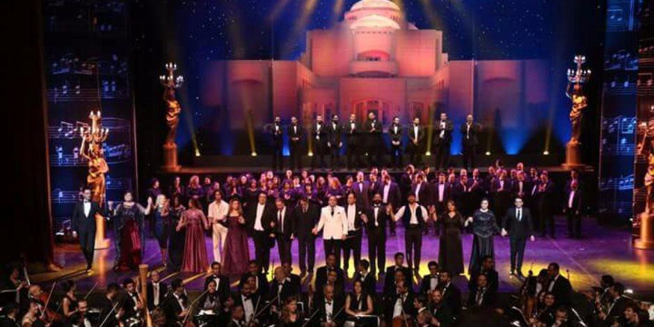 سفراء العالم يحتفلون مع 500 فنان وحشد جماهيري بعيد ميلاد الاوبرا الـ29