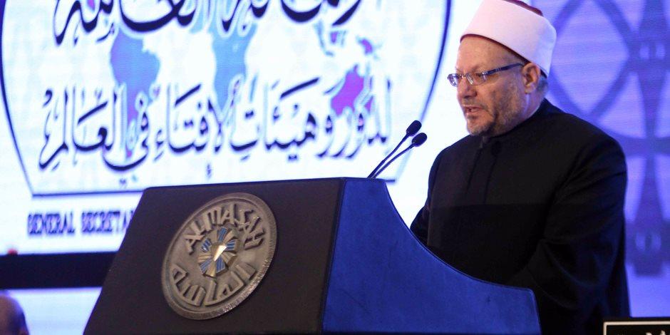 مفتي الجمهورية: الشريعة الإسلامية مطبقة في مصر