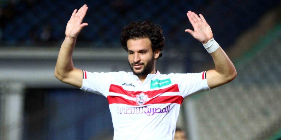 تأكد غياب محمود علاء عن مباراة الزمالك والرجاء المغربي غدا