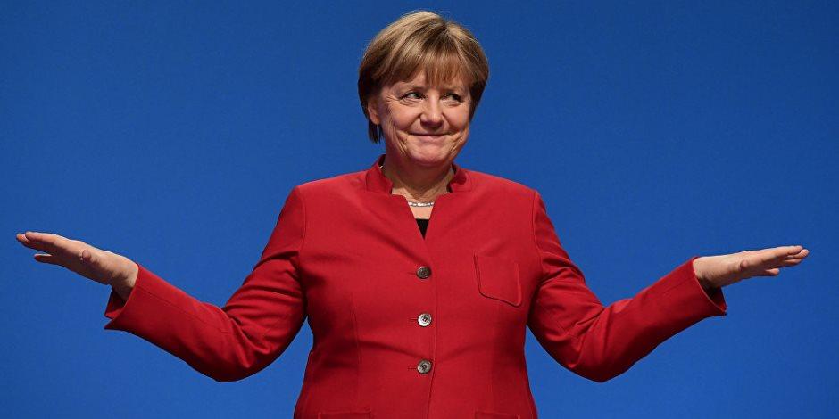 أنجيلا ميركل تستقبل الرئيس الفرنسى إيمانويل ماكرون فى برلين