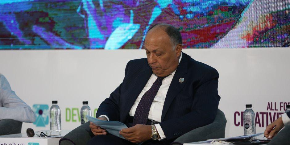 وزير الخارجية يستقبل السكرتير التنفيذي لاتفاقية الأمم المتحدة لتغير المناخ