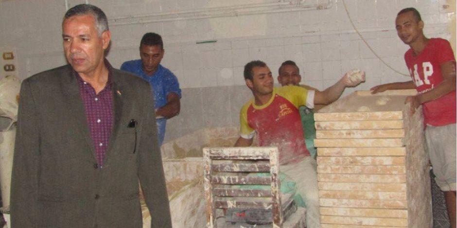 رئيس مدينة أبورديس يتفقد مخابز المدينة ويطالب مفتشي التموين بالمتابعة الدورية