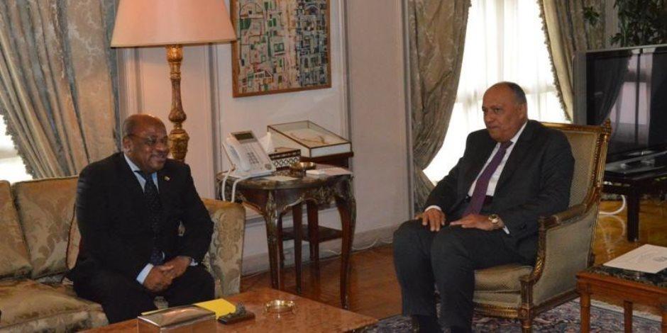 سامح شكري يستقبل وزير خارجية جزر القمر حاملا رسالة إلى الرئيس السيسي (صور)