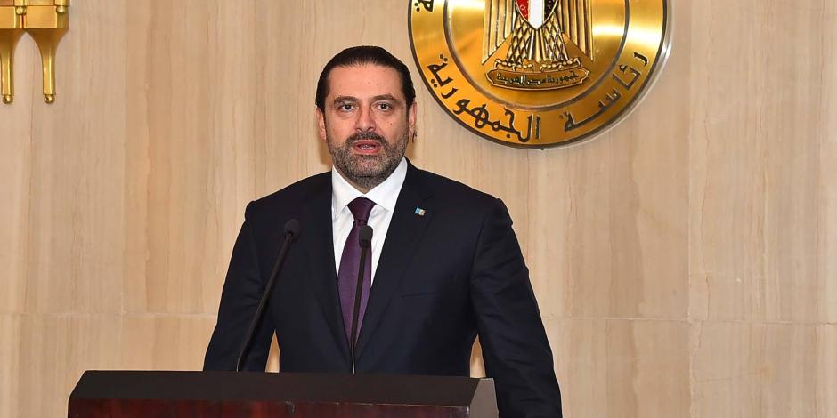 رئيس الوزراء اللبنانى: علينا الاستفادة من التجربة المصرية بقيادة الرئيس السيسى