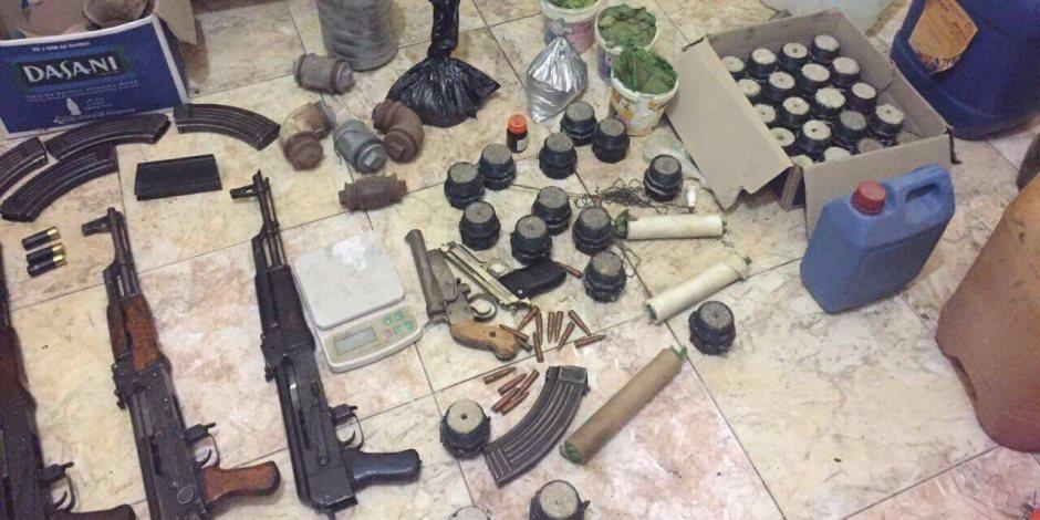 ضبط مخزن يحوي مواد لتصنيع المتفجرات بقرية أبوعمر في أبوكبير (القصة الكاملة)