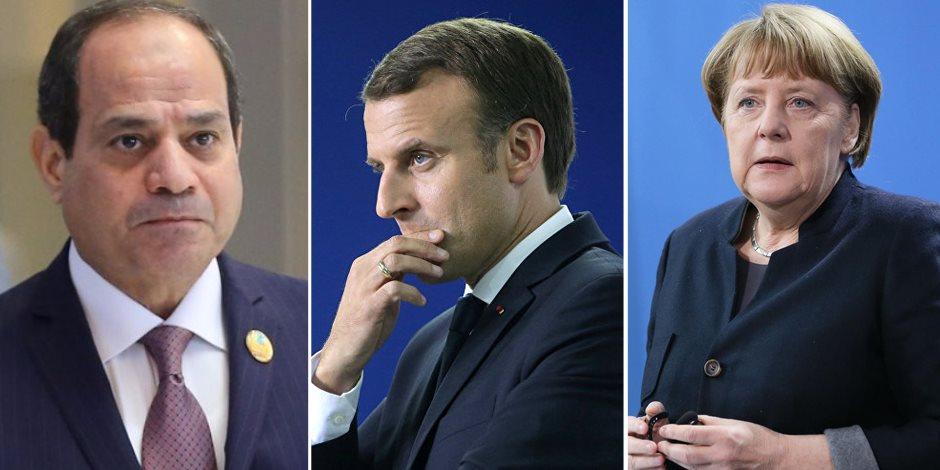 بدء توافد القادة المشاركين بمؤتمر برلين حول ليبيا بمشاركة الرئيس السيسي