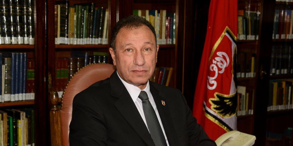 النادي الأهلي يعلن سبب تغيب محمود الخطيب عن اجتماع «الكاف»