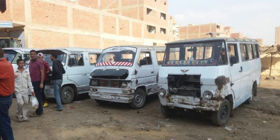 """نقل موقف """"الشيخة نصره"""" إلى منطقة الشوربجي بحي الهرم (صور)"""