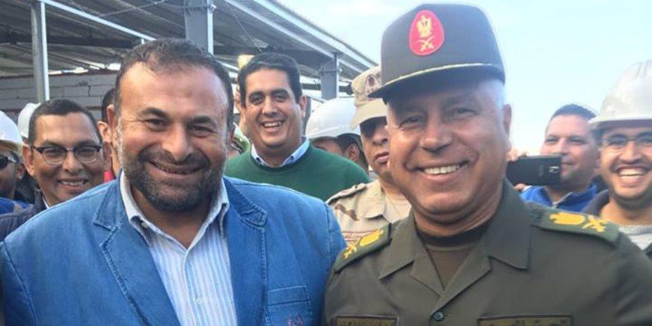 رئيس الهيئة الهندسية بالقوات المسلحة يتفقد مدينة الأثاث في دمياط