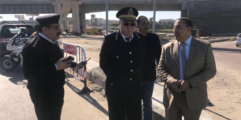 مدير الإدارة العامة للمرور يكشف طرق الوصول لاستاد برج العرب (صور)