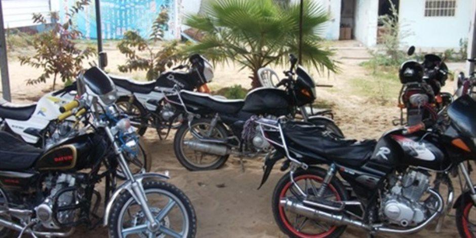 حجز 403 دراجة بخارية مخالفة خلال حملة مرورية