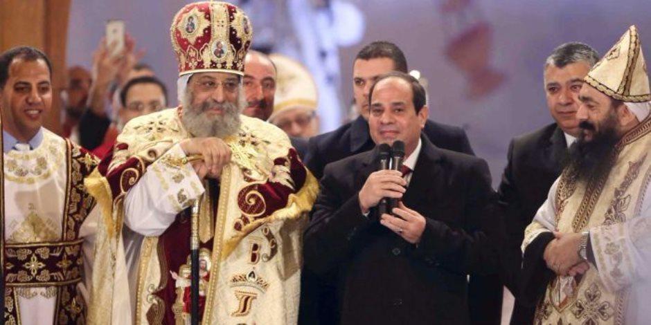 """البابا تواضروس: افتتاح كاتدرائية """"ميلاد المسيح"""" بالعاصمة الإدارية الجديدة أسعدنا"""