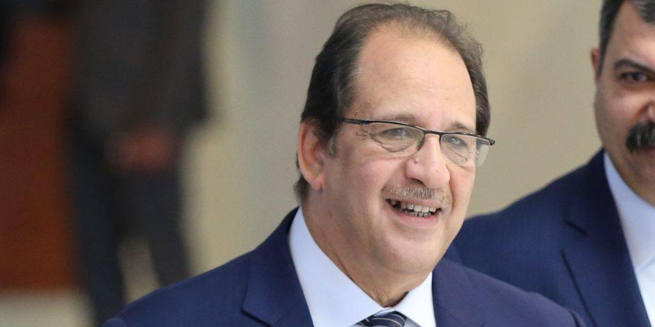 الوزير عباس كامل مدير المخابرات العامة يلتقي سفيري أمريكا في ليبيا والقاهرة