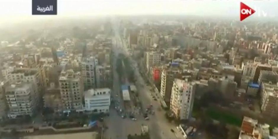 """إطلالة علوية من مدينة المحلة الكبرى بطائرات """"الدرون"""" (فيديو)"""