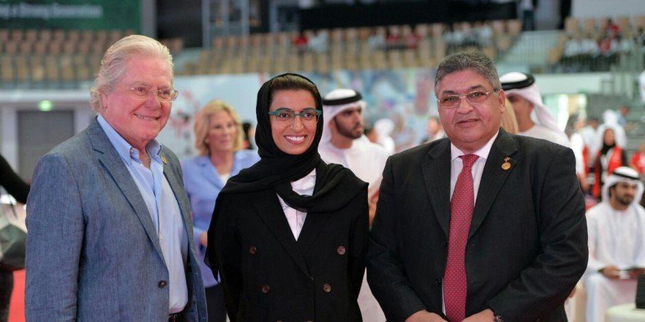 حسين فهمي: أبوظبي تقدم أكبر رسالة للبشرية باستضافتها دورتي الأولمبياد الخاص  (صور)