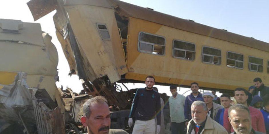 """كوم حمادة.. حادث يُضاف إلى """"كوم"""" كوارث القطارات"""