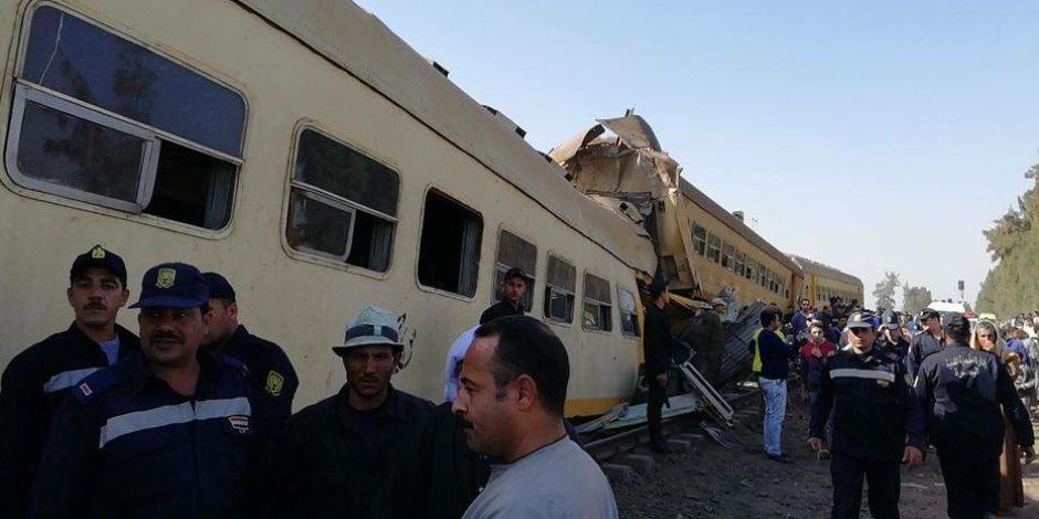 بدء التحقيقات فى حادث القطار: المحامي العام يعاين الموقع والنيابة تستمع للمصابين (فيديو وصور)
