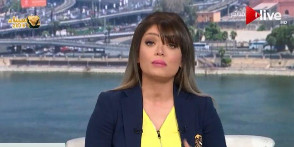 """مذيعة """"صباح on"""": مصر واقفة على رجليها وتحقق التنمية رغم حرب الإرهاب"""